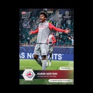 Karim Adeyemi RC - FC Salzburg - 2020/2021 UCL Topps Now Card #29 UEFA Champions