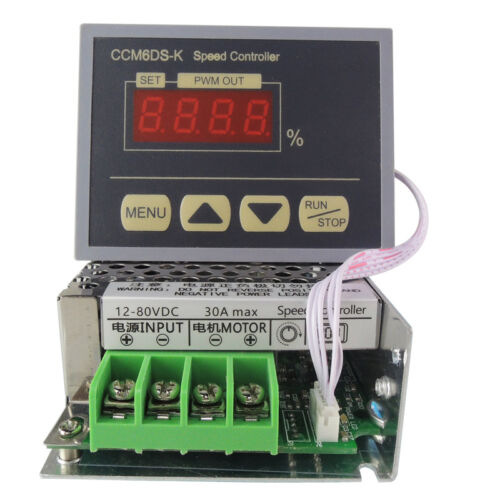 12-80V 30A PWM DC Motor Speed Controller Digital Display Large Power Governor