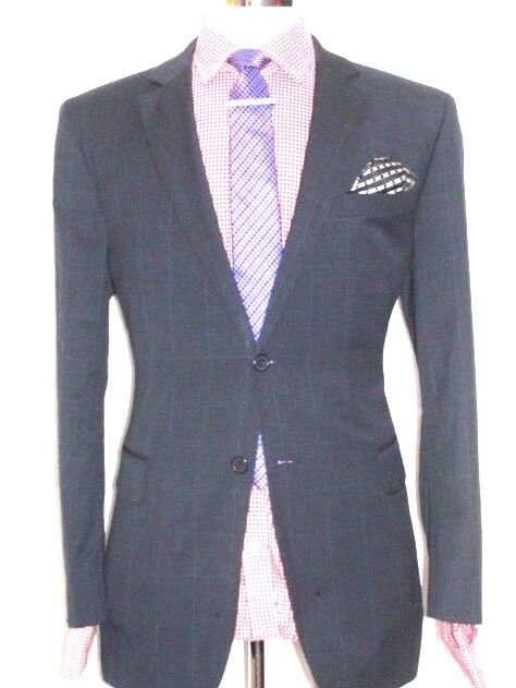 Jaeger suit Tailor-Made  LONDON  CLASSIC   blueE&GREY   SUIT  42REG  W36   XL32