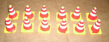 1/32 Scale Safety Highway Cones (12 pcs) Car Model Diorama Railroad Accessories