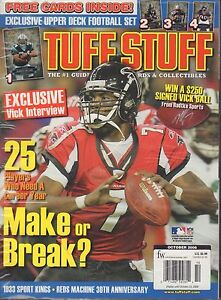 Tuff Stuff Magazine October 2006 Michael Vick Sealed 072217nonjhe