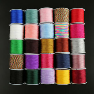 1Roll-45m-Nylon-Cord-Thread-Chinese-Knot-Macrame-Rattail-Bracelet-Braided-String