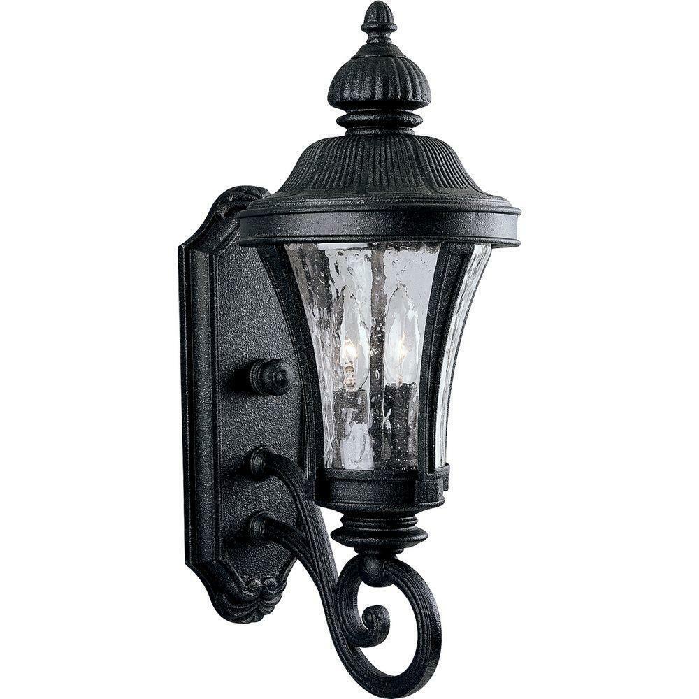 Progress Lighting Nottington Gilded Iron 2-Light 19.6 in. Outdoor Wall Lantern