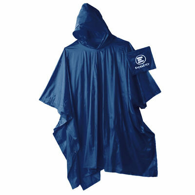 Emergency: Impermeabile con cappuccio ripiegabile blu