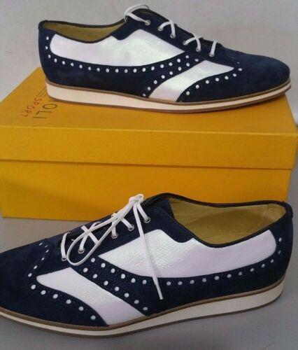 Homme Chaussures Lacets 5 44 5 Bleu Borgioli N Anglais Sport Uk Style 9 Blanc Z6ORdw6x1q