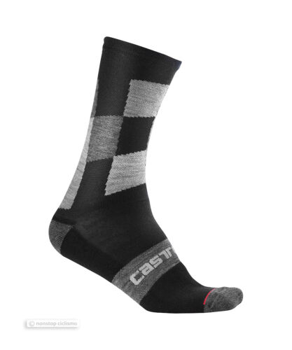 Castelli DIVERSO 2 18 cm Winter Wool Bicycling Socks BLACK One Pair