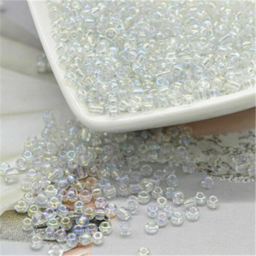 2mm Bulk Seed Bead Glass With Silver Loose Spacer Bead DIY Craft Jewelry Makings