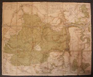 Orriginal-Karte-034-Tharandt-und-Umgebung-034-um-1930-Sachsen-Saxonica-Ortskunde-sf