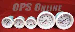 Mercury Outboard Analog Gauge Set - White- Speedo, 7K Tachometer, trim, temp,w/p