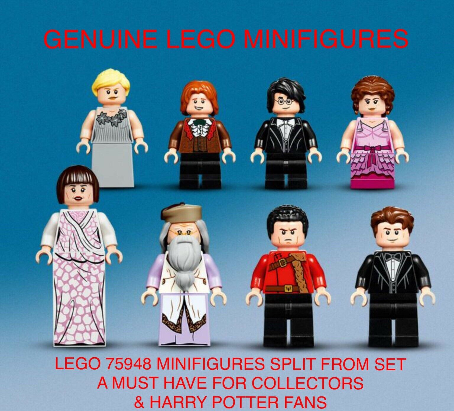 8 X LEGO MINIFIGURES SPLIT FROM SET 75948 - HARRY POTTER. B NEW. MUST HAVE. (D)