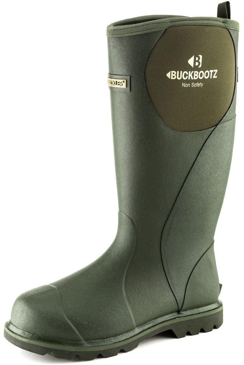 BuckBootz Mens Non Safety Green Neo Wellington Boot BBZ5060 Buck Bootz Boots