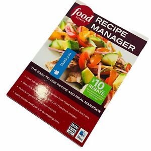 Food Network Recipe Manager 2010 Manual PC MAC CD Plan Meals Tutorial Calendar