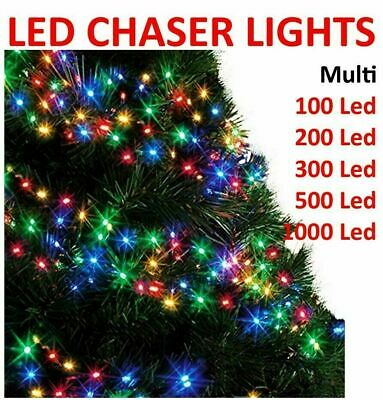 Multi Functional Xmas Tree LED Chaser String Fairy Lights Timer Memory Christmas