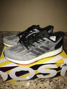 newest a939f af846 Adidas PureBoost Pure Boost DPR Core Black White Grey Red Running ...