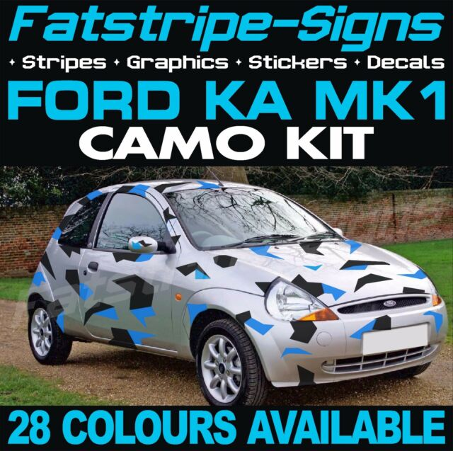 Ford Ka Mk Graphics Camo Stickers Decals Bonnet Roof Camouflage St Zetec Sport
