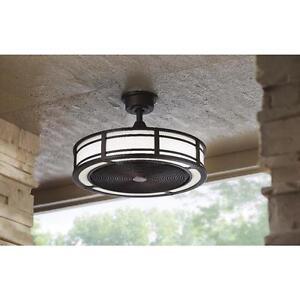 New 23 Inch Rustic Bronze Ceiling Fan Indoor Outdoor 3