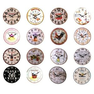 Assorted-Designs-Large-Rustic-Retro-Kitchen-Wall-Clock-34cm-1-Supplied