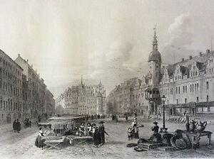 Leipzig-Germany-Saxe-per-Rouargue-Brother-circa-1859-Deutschland