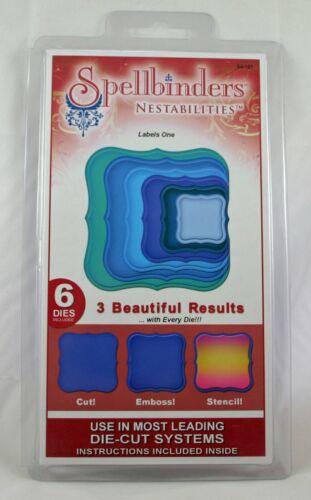 Spellbinders Nestabilities Die Set LABELS ONE S4-161 Fits Cuttlebug Sizzix