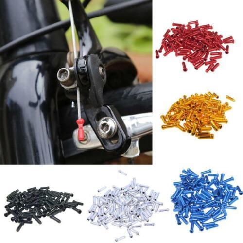 100pcs Bicycle Brake Wire End Cap MTB Road Bike Brake Cable Cap End Tips Crimp