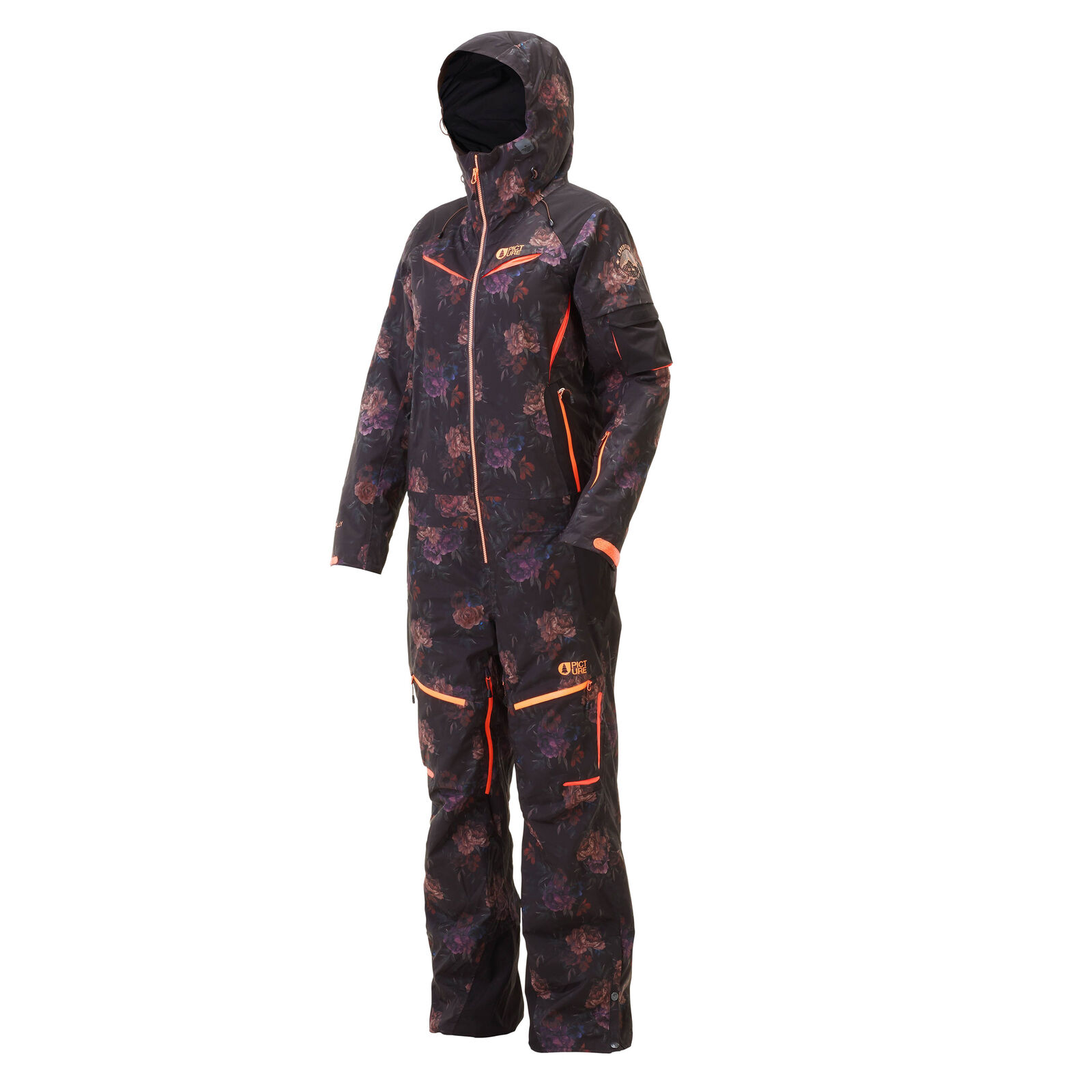 Picture Womens Xena One Piece Ski Snow Suit WVT138 Flower Print