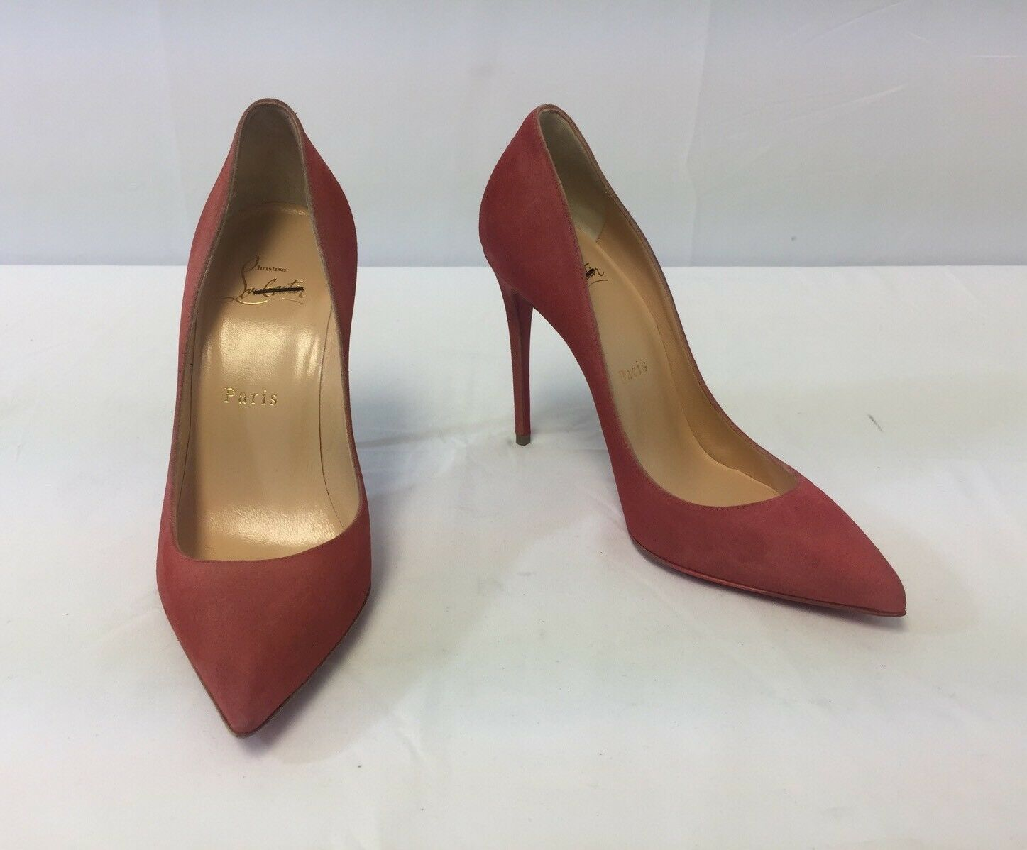 New Christian Louboutin Pigalle Follies Suede Point-Toe Point-Toe Suede Pumps Size 36/6 $675.00 8d2652