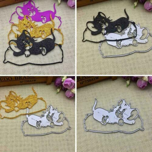 Cat Shape Metal Cutting Dies Stencil DIY Scrapbooking Album Decor Stamp M9N9