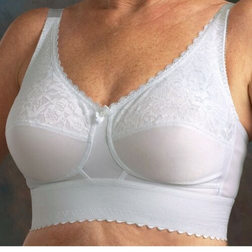 Nearly Me Post Mastectomy Bra 610 Lace Wide Band Large Bust Support Many Sizes