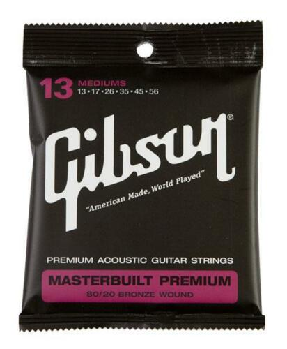 GIBSON MASTERBUILT PREMIUM 80//20 BRONZE SAITEN MEDIUM WESTERNGITARRE .013 .056