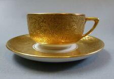 Art Deco Porzellan Moccatasse Mokkatasse Rosenthal Gedeck Gold Relief um 1925