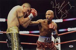 Zab Judah Signed 12x18 Boxing Photo PSA