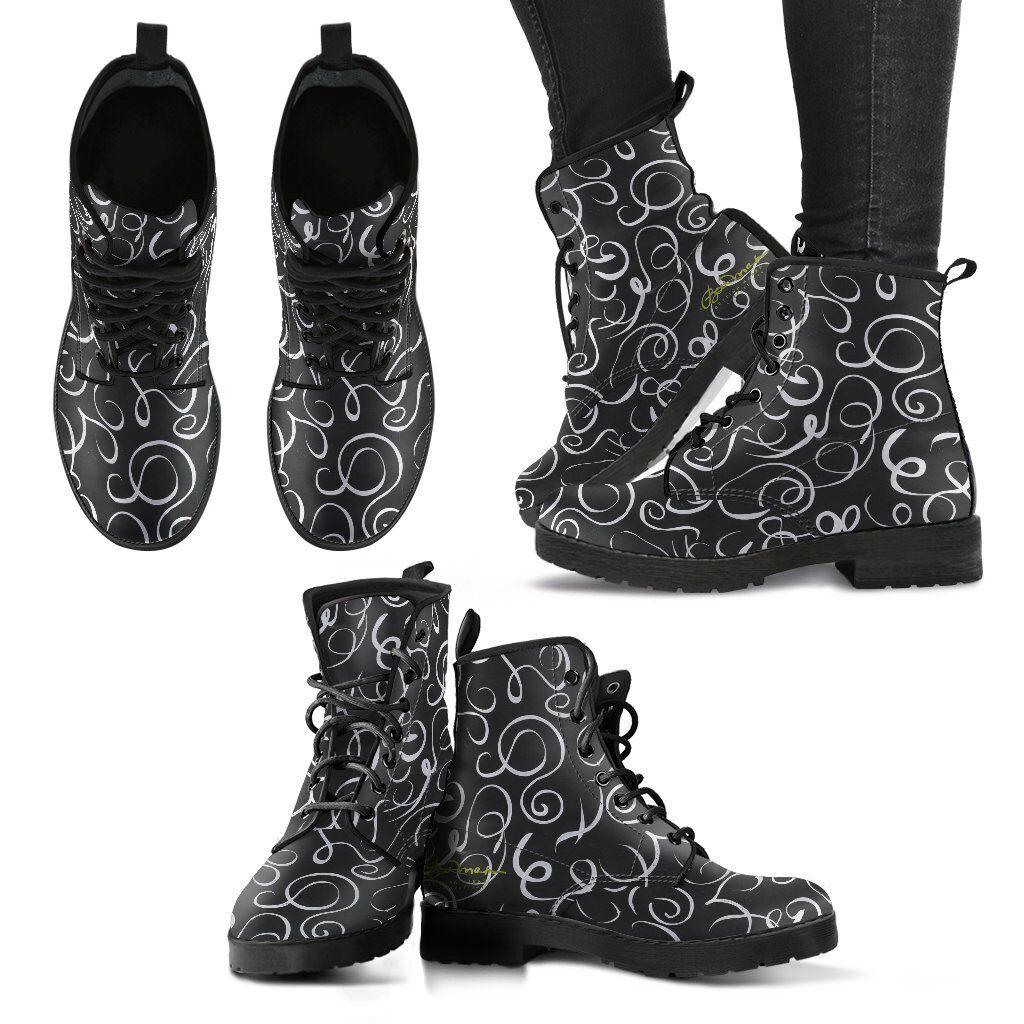 B&W Squiggles Leder Stiefel Günstige und gute Schuhe