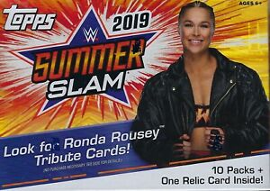 2019-Topps-WWE-SUMMER-SLAM-New-Wrestling-Trading-Cards-71c-Retail-BLASTER-Box