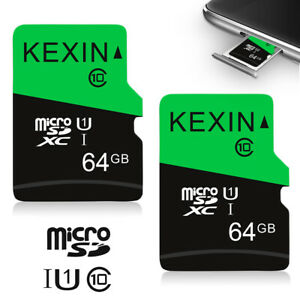 2-Pack-64GB-Micro-SD-TF-Card-SDHC-Class-10-Storage-Memory-Card-for-Phone-Cameras