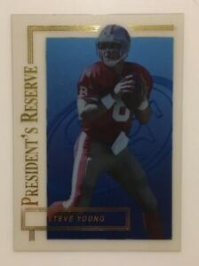 Steve-Young-1996-Collector-039-s-Edge-President-039-s-Reserve-20000-SF-49ERS-HOF
