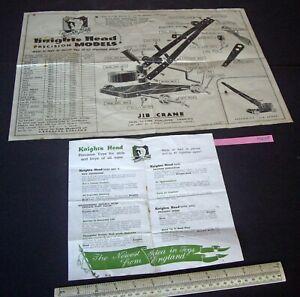 Knights Head Precision Models Jib Crane Plan and Catalogue. Vintage late 40s era