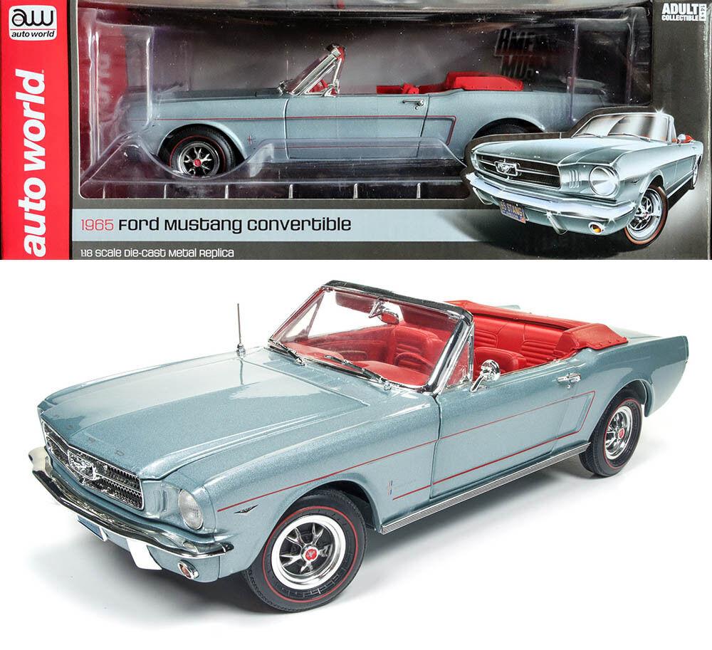 1965 FORD MUSTANG CONVERTIBLE 1 18 Auto World ERTL amm1103