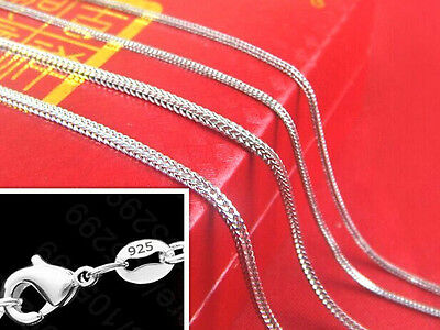 5PCS 16-30inch 925 Silver Fox Tail Chain Necklace Accessorie Jewelry Necklace
