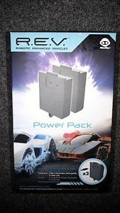 WowWee R.E.V. Robotic Enhanced Vehicles 2x Power Pack Recharge Kit NEW