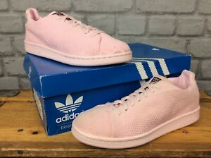 ADIDAS-UK-5-5-EU-38-2-3-STAN-SMITH-PINK-PRIMEKNIT-TRAINERS-CHILDRENS-LADIES