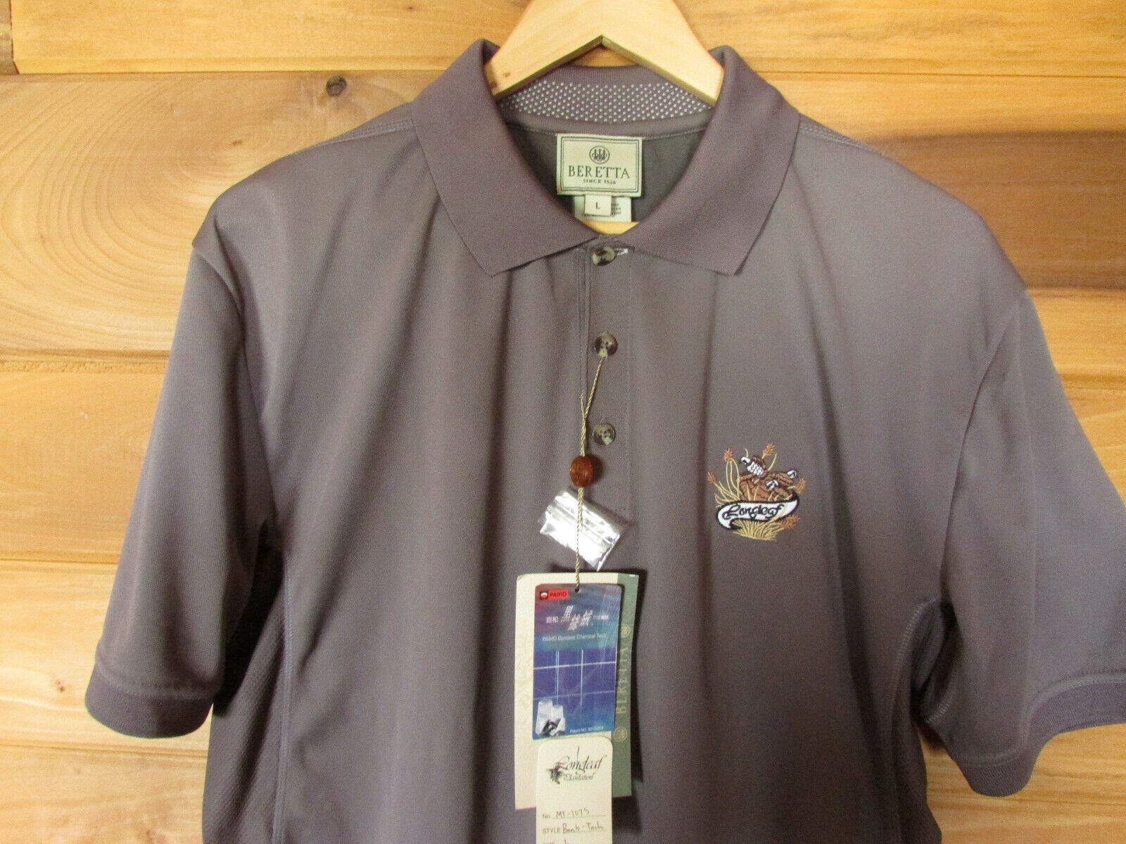 BERETTA MEN'S  BAMBOO TECH POLO.  cheap and top quality