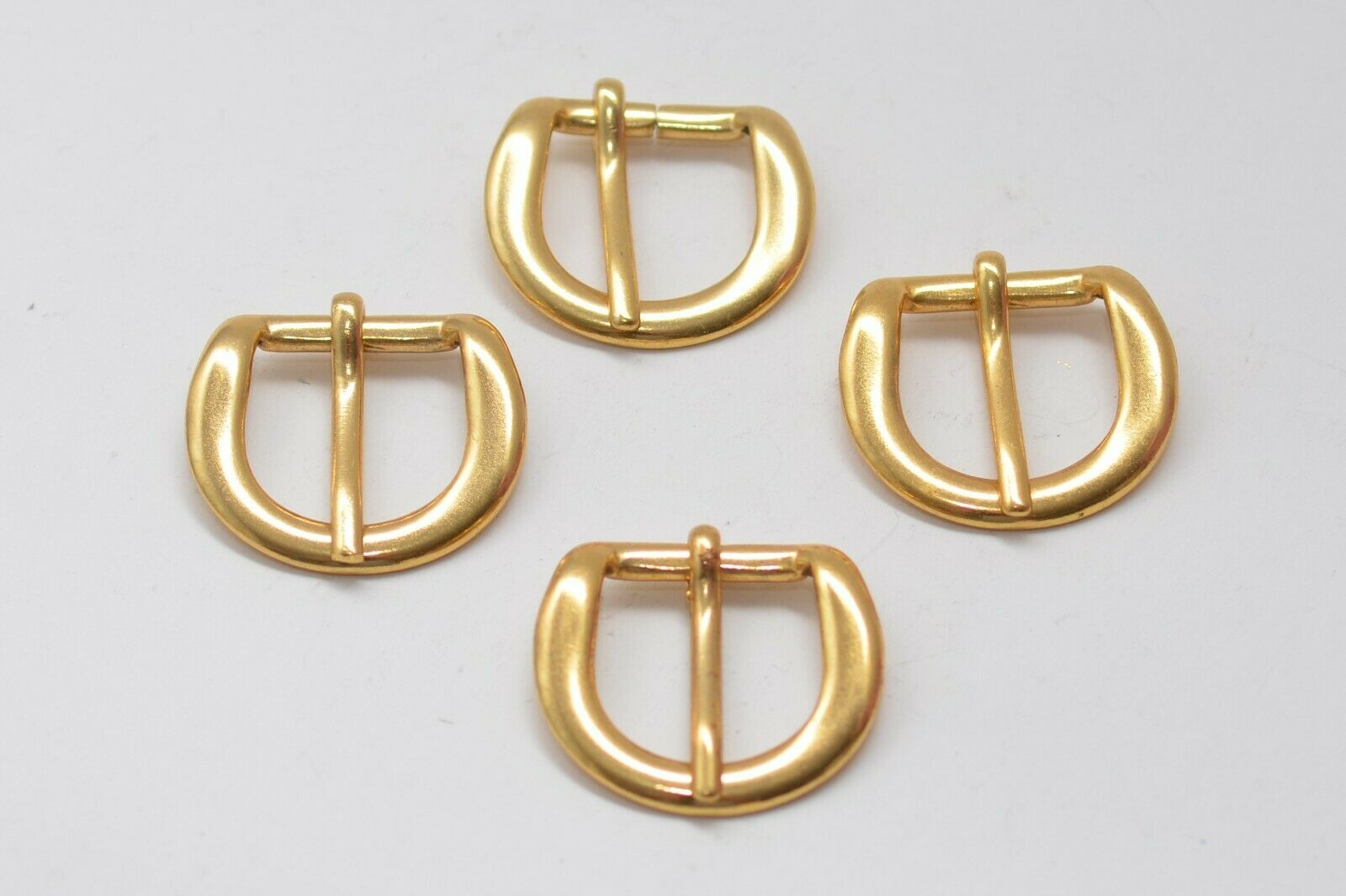 4x Massive Belt Buckle Clasp Buckle, Approx. 20 MM Width, Gold, 80er Years
