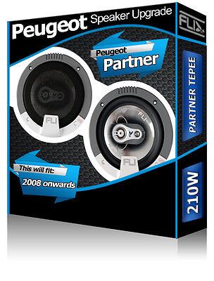 Peugeot Partner Tepee Front Door Speakers Fli Audio car speaker kit 210W