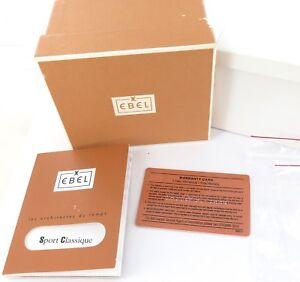 VINTAGE-EBEL-SPORT-CLASSIQUE-WARRANTY-CARD-INSTRUCTION-BOOKLET-amp-OUTER-BOX