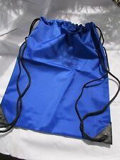Windy City Products Cobalt Blue Compact Nylon Waterproof Drawstring Backpack NEW