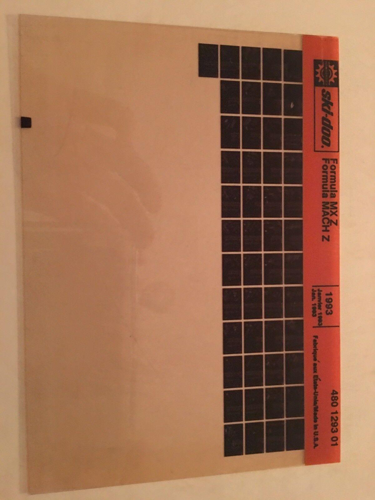 1993 Ski Doo Mach Z Patts Microfiche