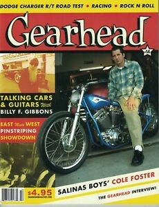 Gearhead Magazine #14 ZZ Top Billy Gibbons Bike Builder Cole Foster Hot Rods