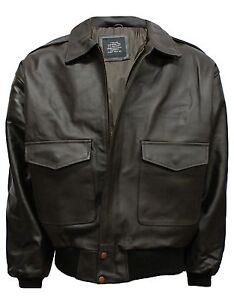 A-2-LEATHER-AIR-FORCE-FLIGHT-BOMBER-JACKET-S-3XL