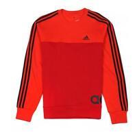 adidas Performance Men's Linear 3S Colourblock Sweatshirt Orange Red Black S-XXL
