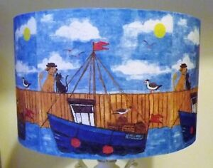 Harbor Boats lampshade blue red